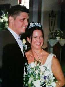 Nine years ago today my husband and I got married.  Things have changed a wee bit since then...