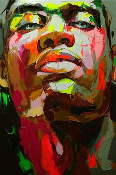 emphasizes the artists process of applying the paint and expression