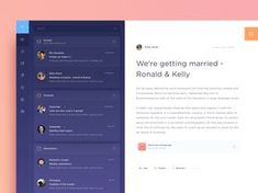Email Dashboard UI, features inspired by Spark (iOS email app). Design Web, App Ui Design, User Interface Design, Flat Design, Web Dashboard, Ui Web, Dashboard Design, Dashboard Interface, Website Design Inspiration