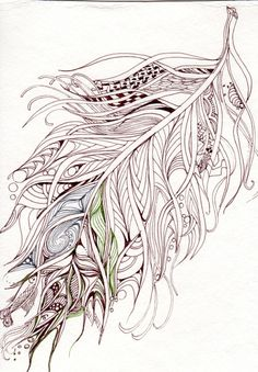 Mix between a leaf and a feather