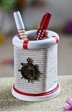 2016 stredomorskom štýle držiak drevená debna ručne tkané drevené pero deks odkladacia schránka desktop dekorácie Zakka domova (Čína (pevninská časť))