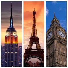 New York Paris London