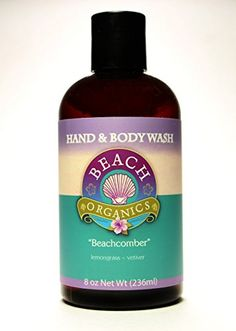 Natural Bodywash with Organic Ingredients and Aloe Beachcomber Scent Lemongrass and Vetiver Essential Oils Made and sold by Beach Organics 80 oz ** Find out more about the great product at the image link.