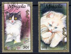 """These """"Afghan Post"""" Cat stamps are condemned as unauthorized by the Afghan Ministry of Communications. So I guess that makes them Cinderella Cats!"""