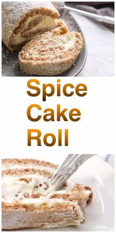 This spice cake roll has classic spices folded into a tender cake roll batter. The filling is a sweet maple buttercream that could be called dessert all on its own! Cake Roll Recipes, Cupcake Recipes, Dessert Recipes, Recipes Dinner, Breakfast Recipes, Bakery Recipes, Cooking Recipes, Healthy Recipes, Pasta Recipes