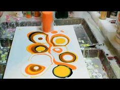 Fluid painting tutorial - Today is Orange - YouTube