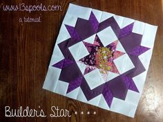 BLOCK TUTORIAL: BUILDER'S STAR.. by Amy -Today, I'm sharing a tutorial with you for a block that is similar to a Carpenter's Star: This block is 12.5″ square, so it will finish at 12″ square when sewn in a quilt.