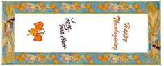 Free printable Jan Brett Thanksgiving Bookmarks. www.janbrett.com