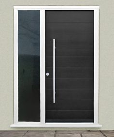 Contemporary Front Doors Upvc - When choosing your front doors, you need to go for one that's tough enough to endure the vagaries of the weather including Composite Front Doors Uk, Contemporary Front Doors, Modern Front Door, Front Door Design, Modern Contemporary, Front Door Entrance, Entry Doors, Front Entry, Houses