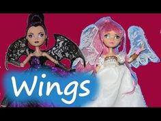 How to make Wings for Dolls - Halloween Accessories - YouTube