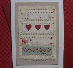 Hand-stitched card by Helen Drewett LITTLE STITCHES see more designs in my shop! | eBay