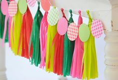 Watermelon Party Tissue Paper Garland