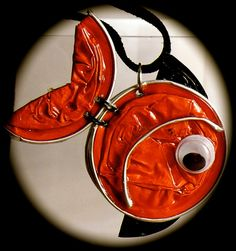 locket necklace nespresso fish by easywom on Etsy, $18.00