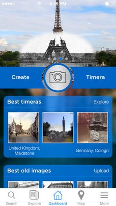 Timera is the closest thing to a time machine for your smartphone. It turns your phone into a time camera where you can stand in the shoes of past photographers and create amazing combinations of old photographs coupled with views from your camera. Then And Now Photos, Old Images, Sense Of Place, Old Photographs, Filmmaking, Itunes, United Kingdom, Germany, Explore