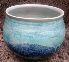 Dark Green, Textured Turquoise and Blue Midnight over Toasted Sage (Angelika Prager)