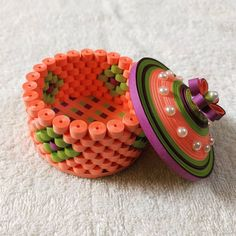 Quilled Multipurpose Box... Rs. 250 each... Height - 1.5 inches Diameter - 3 inches Free shipping (on Rs.500 order).. Bulk will be discounted...