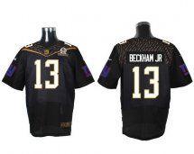 Stitched NFL Elite Jersey New York Giants 13 Odell Beckham Jr Black 2016  Men Nike ...