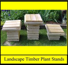 Landscape Timber Plant Stands