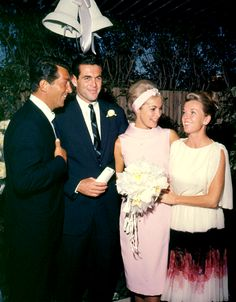 Dean and Jeanne Martin with Robert Brandt and Janet Leigh on their wedding day