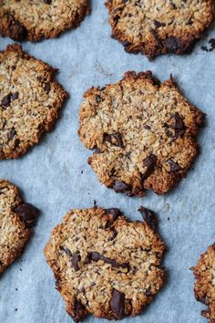 Sunde cookies med havregryn og chokolade (uden æg - vegansk) Healthy Muffins, Healthy Cookies, Healthy Desserts, Love Food, A Food, Food And Drink, My Recipes, Vegan Recipes, Vegan Food