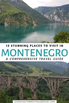 The Best Places to Visit in Montenegro, TRAVEL, 13 Stunning Places to Visit in Montenegro. A comprehensive travel guide to with in-depth information on what to see, what to do and where to stay in M. Europe Travel Tips, Travel Info, Travelling Europe, Food Travel, Travel Packing, Travel Guides, Best Places To Travel, Cool Places To Visit, Montenegro Travel