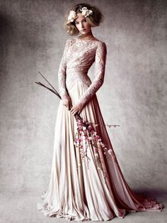 Rose gown (Heloise Guerin by Victor Demarchelier for Vogue Japan Weddings,
