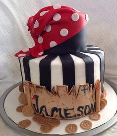 Pirate boys birthday cake