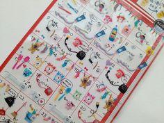 Japan Qlia kawaii Petit Life sticker sheet-ZAKKA on Etsy, $3.01