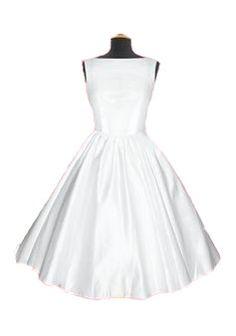 Audrey Hepburn 50s White Wedding Dresses