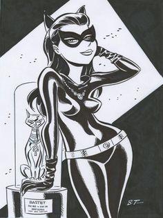 "Classic Catwoman ""Batman 1966"" by Bruce Timm.(MG)"