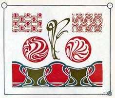 Jugendstil Ornamente. Vorlage für Tattoo, Stickerei, Design und Grafik. Illustrationen