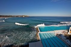 "Bondi Beach Ocean Pool in Sydney, Australia. The high tide brings in the ""fresh"" water every few hours."