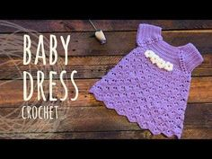 Crochet Baby Dress Crochet Baby Dress How to crochet an easy shell stitch baby ...