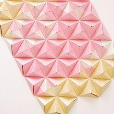 Sonobe unit origami wall art by Coco Sato http://cocosato.co.uk