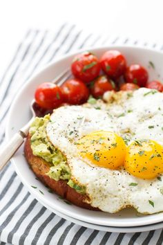 Guacamole-Style Avocado Toasts with Fried Eggs Recipe | Little Spice Jar
