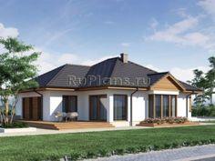 Одноэтажный дом гаражом и просторной столовой R1507