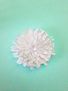 Paper Water Lilies & Chrysanthemums Tutorial — Only Just Becoming Large Paper Flowers, Diy Flowers, Fabric Flowers, Diy And Crafts, Paper Crafts, Water Lilies, Flower Crafts, Paper Art, Lily