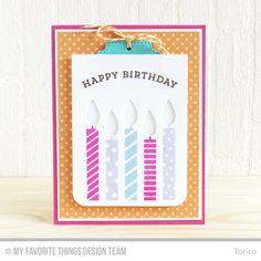 Blueprints 24 Die-namics, Birthday Candles Die-namics, Make a Wish Stamp Set, Big Birthday Sentiments Stamp Set - Torico  #mftstamps