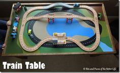 Easy Homemade Train Table