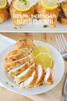 Lemon Parmesan Baked Chicken-tender, delicious chicken that is full of flavor! A hearty meal that the whole family will enjoy!
