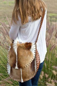 Large Over the Shoulder bag. Hair on Hide. Beautiful!