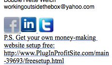 Bobbie Know's Best: How To Add Social Icons To You E-mail Signature