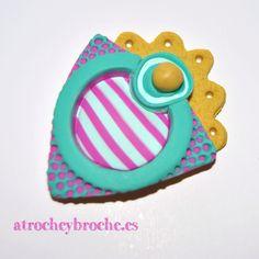Broche de arcilla polimérica con técnica de inspiraciones marinas #polymerclay #polyclay