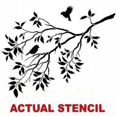 Wall Stencil Birds on a Branch - Stencils for DIY decor - Better than decals