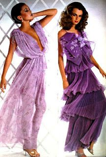 1978 Floaty Lavender Dresses. 1970s fashion