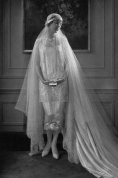 Callot Soeurs wedding gown...the thought of ball of tulle bride Lady Mary makes me want fall to get here already.