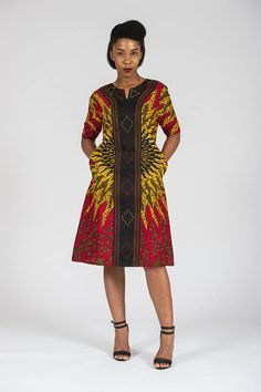 african fashion dresses which looks amazing! Short African Dresses, Latest African Fashion Dresses, African Print Dresses, African Wear, African Attire, African Women, Short Dresses, African Style, Dresses Dresses