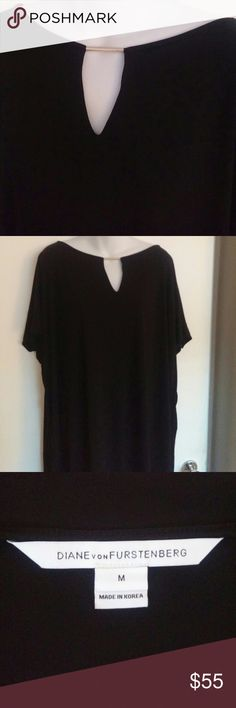 Dvf top Oversized top any size can wear stretchy very elegant great with leggings  silver embellishment on front or wear as mini dress Diane Von Furstenberg Tops Tees - Short Sleeve