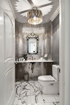 Cool 35 Most Efficient Small Powder Room Design Ideas https://roomaniac.com/35-efficient-small-powder-room-design-ideas/