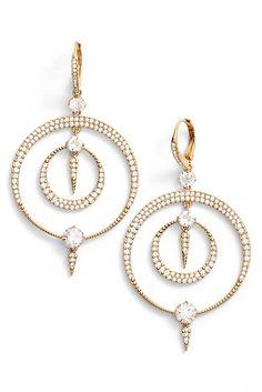 Image Of Nadri Gwen Crystal Hoop Drop Earrings